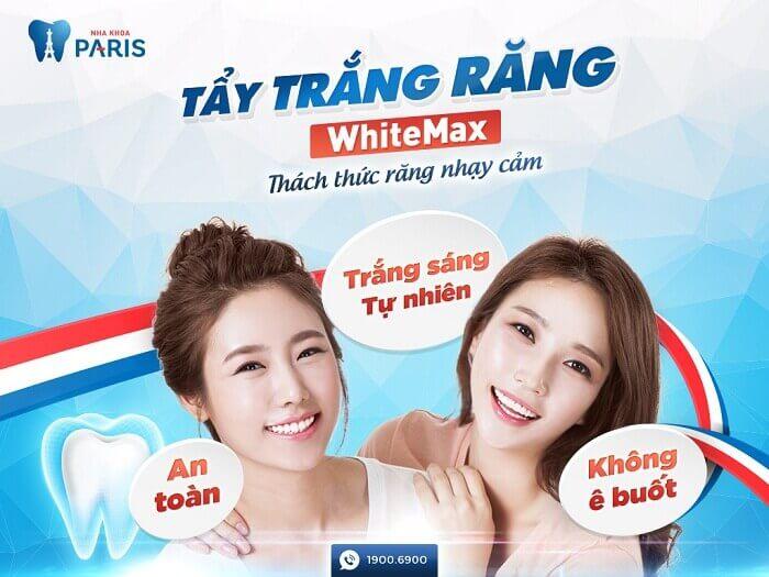 Công nghệ tẩy trắng răng WhiteMax an toàn