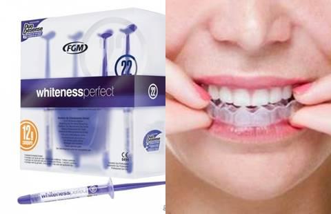 Sử dụng gel làm trắng răng kết hợp với máng ngậm.